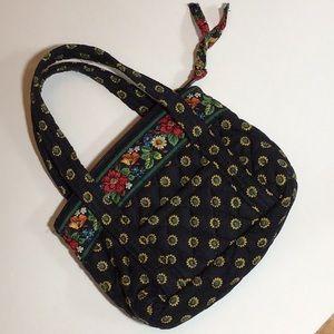 VERA BRADLEY Retired Vibrant Black pattern am bag